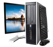 Hewlett Packard 8000 Elite Intel Quad Core 2.66 Ghz PC Unit + 20 Inch Monitor