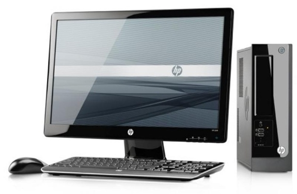HP Pro 3300 2nd Gen 3.3 Ghz Dual Core PC + 20 Inch Dell Monitor