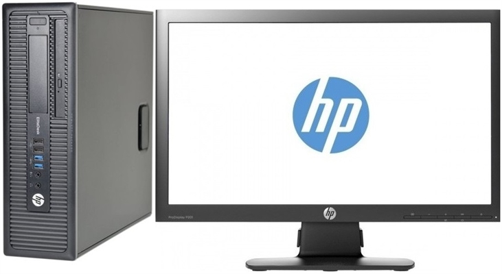 HP ProDesk 600 G1 I5 4th Gen 3.2 GHz Quad Core PC + 22 Inch Monitor